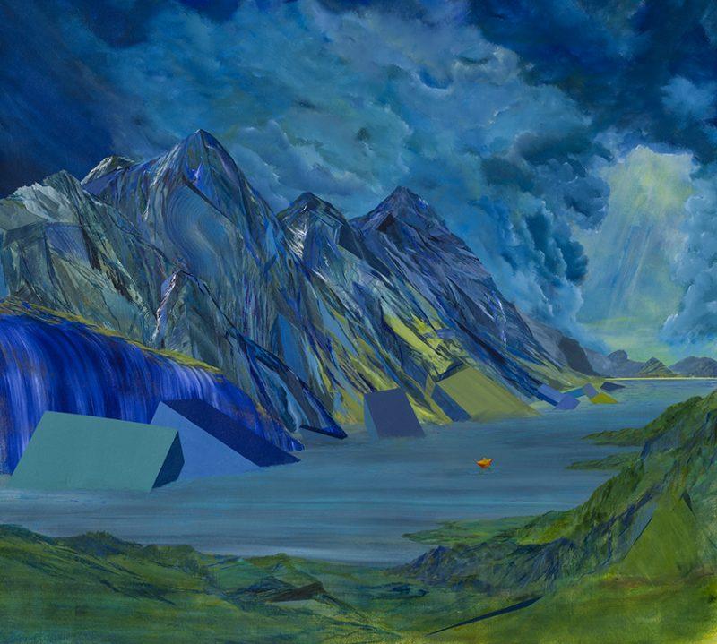 Zénith au talweg. 132 x 145 cm