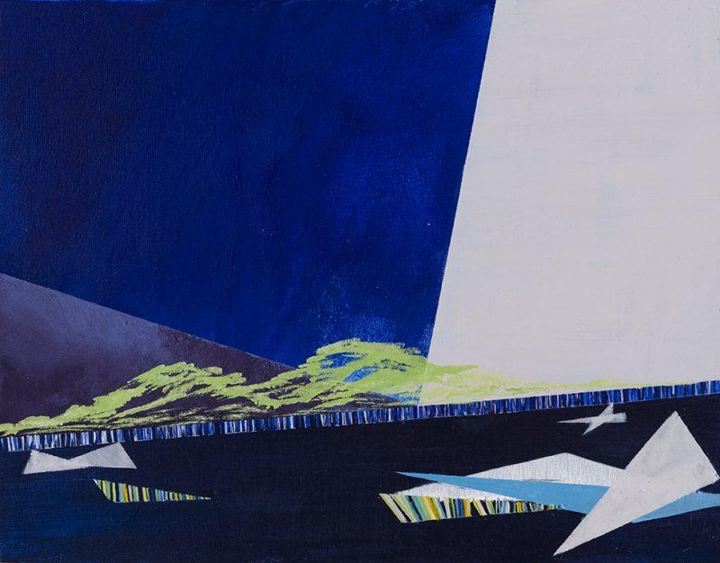 Heure bleue. 28 x 35,5 cm