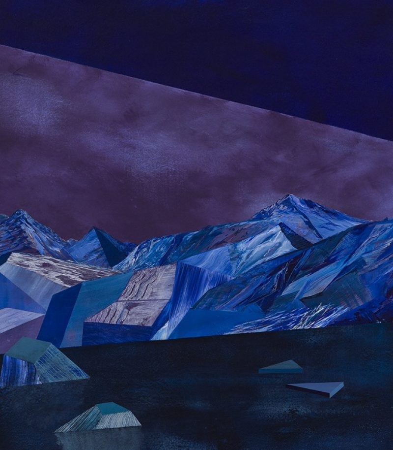 La nuit tombe, 1/3. 84 x 73,5 cm