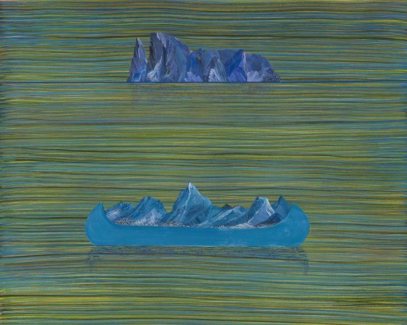 Dialogue muet. 40,5 x 51 cm