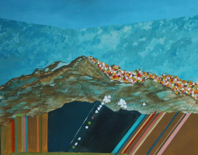 La montagne et son cortège blanc, 76 cm x 61 cm