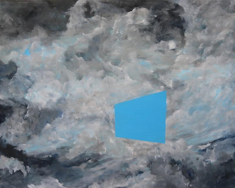 Ciel à géométrie variable, 51 cm x 41 cm
