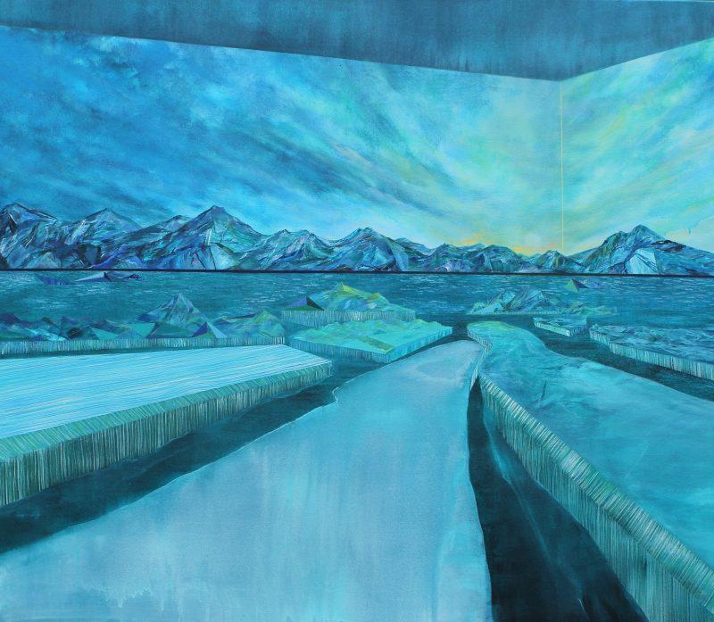 Pont de fuite. 132 x 152,5 cm