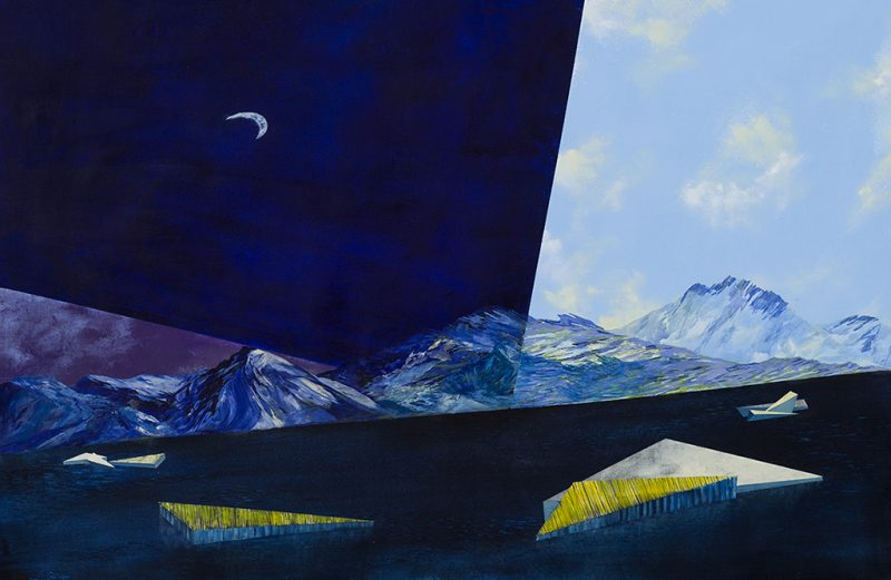 La nuit tombe, 2/3. 112 x 165 cm