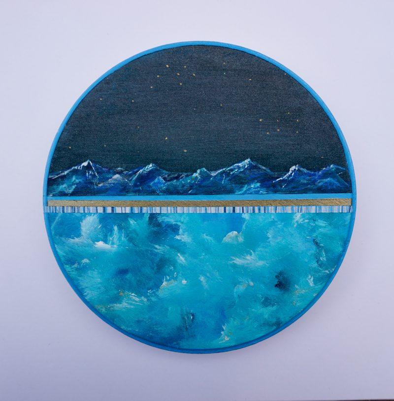 Ton ciel, ma terre, notre horizon-2, diamètre 15 cm- VENDU
