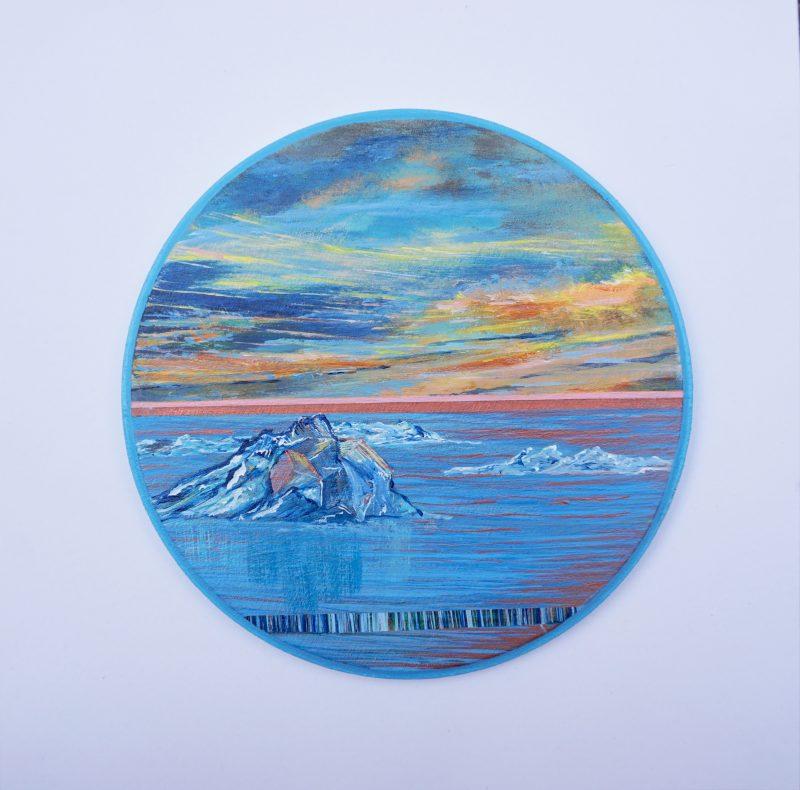 Ton ciel, ma terre, notre horizon-6, diamètre 15 cm-VENDU