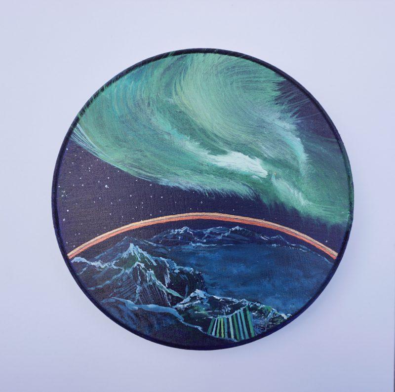 Ton ciel, ma terre, notre horizon-9, diamètre: 15cm- VENDU